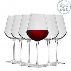 6 verres InAlto Tre Sensi Large Verre à pied à vin 47 cl