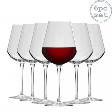 6 verres InAlto Tre Sensi Large Verre à pied à vin 55 cl